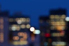 Fondo astratto dell'orizzonte della città Fotografia Stock