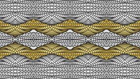 Fondo astratto dell'oro e dell'argento per la progettazione dei tessuti, Fotografia Stock
