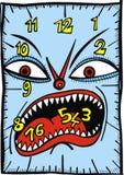 Fondo astratto dell'orologio marcatempo Fotografia Stock