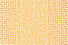Fondo astratto della banda di tono e dell'incrocio arancio del quadrato insieme Fotografia Stock