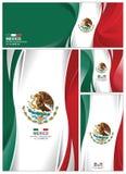 Fondo astratto della bandiera del Messico Fotografia Stock