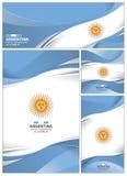 Fondo astratto della bandiera dell'Argentina Fotografia Stock