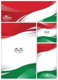 Fondo astratto della bandiera dell'Ungheria Immagini Stock Libere da Diritti