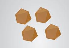 Fondo astratto della bolla di origami Fotografia Stock