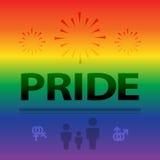 Fondo astratto della celebrazione di orgoglio in BAC variopinto dell'arcobaleno Immagini Stock