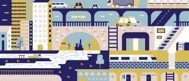 Fondo astratto della città piano royalty illustrazione gratis