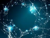 Fondo astratto della connessione di rete illustrazione di stock