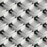 Fondo astratto della costruzione 3D nel grey e nel nero illustrazione vettoriale
