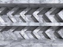 Fondo astratto della costruzione di architettura del muro di cemento Fotografia Stock Libera da Diritti