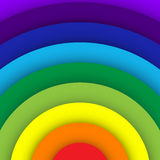 Fondo astratto della curva dell'arcobaleno illustrazione vettoriale