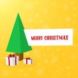 Fondo astratto della disposizione di Buon Natale di vettore Per progettazione di arte del buon anno, lista, pagina, stile di tema Fotografia Stock