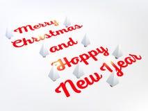 Fondo astratto della disposizione di Buon Natale di vettore Per progettazione di arte del buon anno, lista, pagina, stile di tema Immagini Stock Libere da Diritti