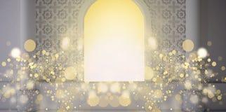 Fondo astratto della frutta, fasci pineappleEastern della stanza, della finestra aperta, di luce solare e di magia rappresentazio illustrazione vettoriale