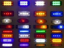 Fondo astratto della luce di plastica multicolore dell'alogeno Immagini Stock Libere da Diritti