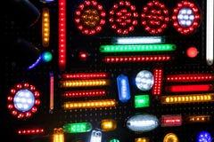 Fondo astratto della luce di plastica multicolore dell'alogeno Fotografie Stock Libere da Diritti
