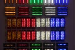 Fondo astratto della luce di plastica multicolore dell'alogeno Fotografia Stock