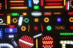 Fondo astratto della luce di plastica multicolore dell'alogeno Immagine Stock