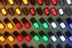 Fondo astratto della luce di plastica multicolore dell'alogeno Immagini Stock