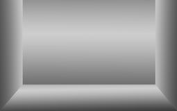 Fondo astratto della parete grigia di pendenza del telaio quadrato Fotografia Stock