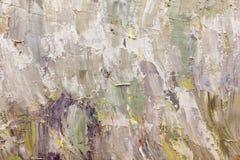 Fondo astratto della pittura ad olio su tela Fotografia Stock Libera da Diritti