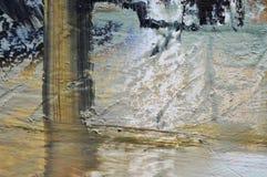Fondo astratto della pittura a olio Fotografia Stock