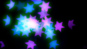Fondo astratto della stella del bokeh video d archivio