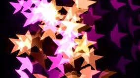 Fondo astratto della stella del bokeh archivi video