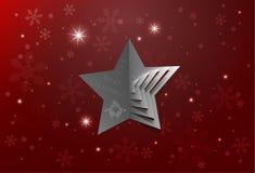Fondo astratto della stella di Natale Fotografia Stock