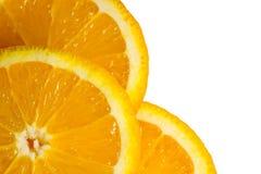 Fondo astratto delle fette arancio della frutta Fotografia Stock Libera da Diritti