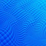 Fondo astratto delle forme geometriche distorte La curvatura di spazio royalty illustrazione gratis