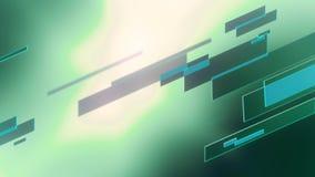 Fondo astratto delle linee di vetro di colore verde intenso stock footage
