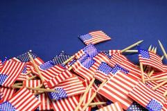 Fondo astratto dello stelle e strisce di U.S.A. vicino su con lo spazio della copia. Fotografie Stock