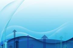 Fondo astratto di affari - blu Fotografia Stock