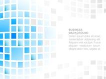 Fondo astratto di affari con il posto per il vostro modello di mosaico quadrato contento e blu Immagini Stock