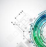 Fondo astratto di affari di computer di tecnologia di colore illustrazione di stock