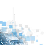 Fondo astratto di affari di tecnologie informatiche di futuristi Immagine Stock