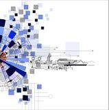 Fondo astratto di affari di tecnologie informatiche di futuristi Immagine Stock Libera da Diritti