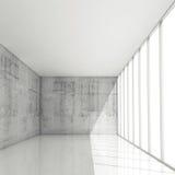Fondo astratto di architettura 3d, interno bianco vuoto royalty illustrazione gratis