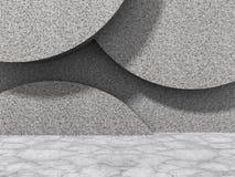 Fondo astratto di architettura del muro di cemento Fotografia Stock