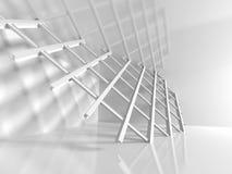 Fondo astratto di architettura di progettazione con la costruzione del fascio Fotografie Stock