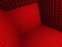 Fondo astratto di architettura di rosso 3d Fotografia Stock