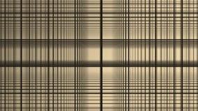 Fondo astratto di bianco del movimento dei quadrati geometrici La linea nera griglia lancia a caso più con bianco illustrazione vettoriale