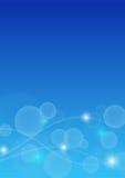 Fondo astratto di Bokeh nel colore blu Fotografia Stock