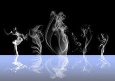 Fondo astratto di buio del fumo Fotografia Stock Libera da Diritti