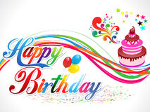 Fondo astratto di buon compleanno Fotografie Stock