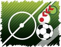 Fondo astratto di calcio Fotografia Stock Libera da Diritti