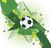 Fondo astratto di calcio. Gidirons con la palla Fotografia Stock