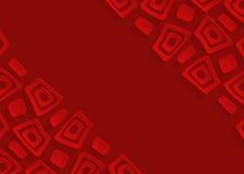 Fondo astratto di carta geometrico rosso Immagini Stock Libere da Diritti