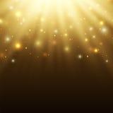 Fondo astratto di celebrazione con le particelle e Immagine Stock