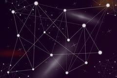 Fondo astratto di collegamento della rete digitale Comunicazione del pianeta dell'universo illustrazione di stock